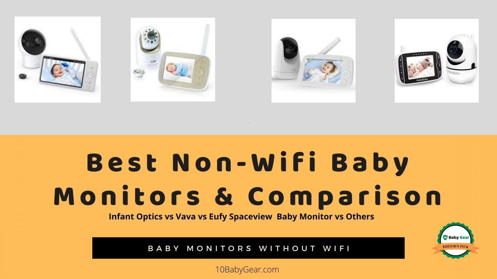 Wireless Digital Audio Baby Monitor 2-Way Intercom Baby Monitor Suitable for