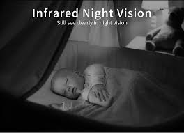 picture of baby on baby monitor on night vision mode