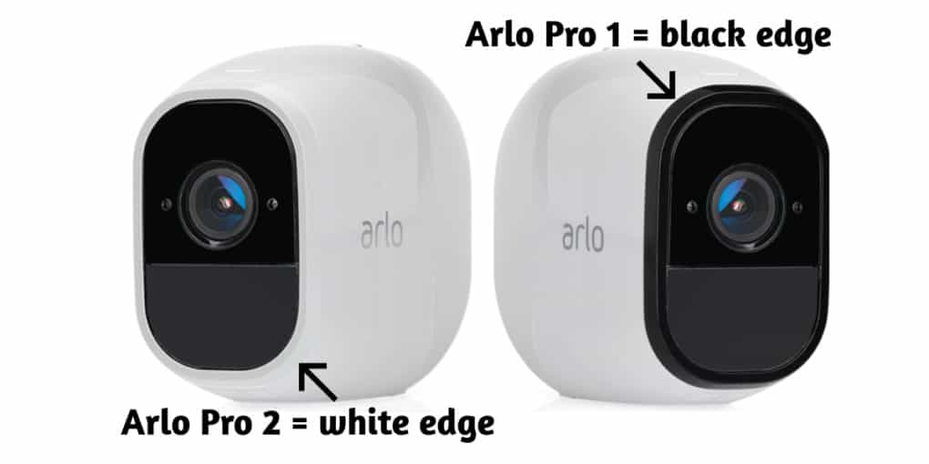 Picture comparison of Arlo Pro and Arlo Pro 2 as baby monitors