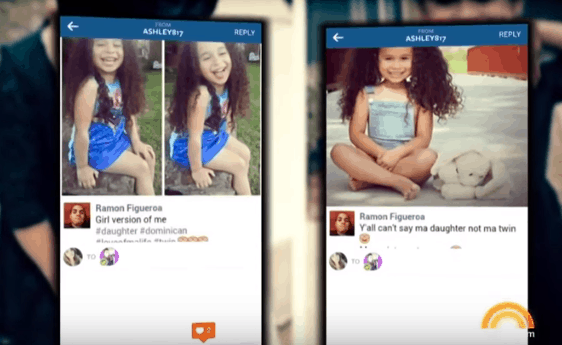 predator stealing a post of child online illustrating dangers of posting picture of your baby