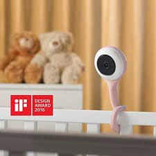 Lollipop baby monitor picture with design award tag.