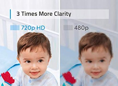 720p vs 480p images on a baby monitor