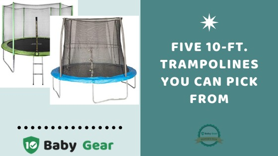 10ft. Trampolines with Enclosures