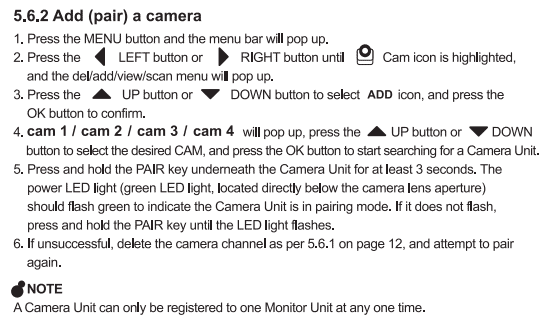 how to add camera to infant optics monitor